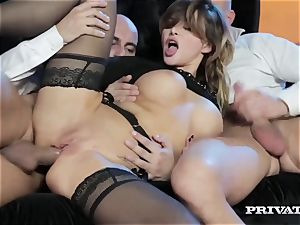 pointy jug Anna Polina Gets Some raunchy double penetration