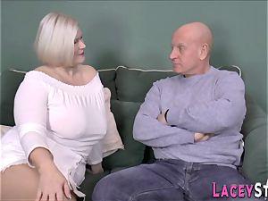 breast banging british grandmother