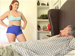 Edyn Blair porked By big ebony man sausage husband watches