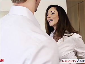 Alluring Ariella Ferrera humped and painted milky