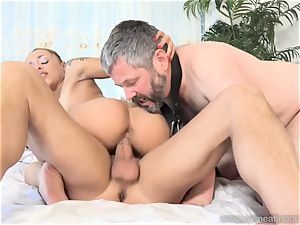 Holly Hendrix Cuckolds hubby and Makes Him munch jizm