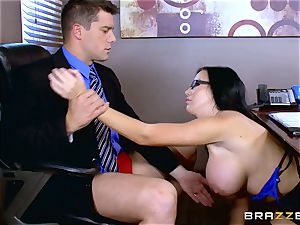 Roman Nomar tears up his super-naughty assistant Sybil Stallone