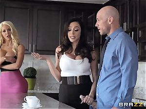 Ariella Ferrera and Nicolette Shea nailed hard