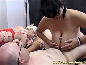 Lederhosen groupsex fuck sex