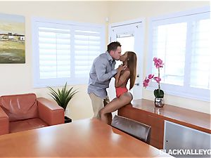 black honey Sarah Banks steaming rock hard raunchy multiracial pound