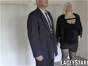 LACEYSTARR - Mature English babe screwed and facialized