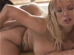 big titted lezzies Alison Tyler and Stormy Daniels