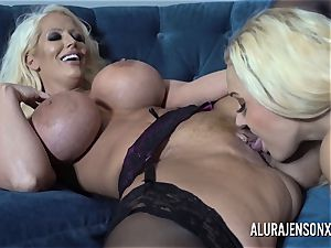 Alura and her busty all girl acquaintance Dolly get kinky