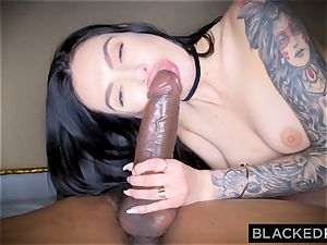 BLACKEDRAW Canadian gf takes ample big black cock in her caboose
