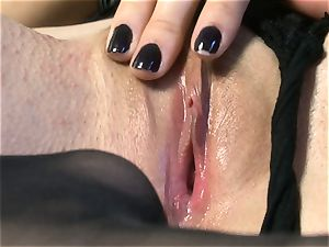 gorgeous babe Sasha Grey gets her pinkish cunny nailed rock-hard by her toy till she shoots a load