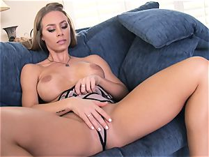 Nicole Aniston sensually pawing her gentle cootchie