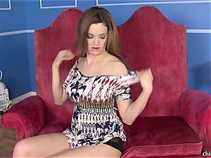 Jayden Cole pushes her fingers deep in her humid crevasse