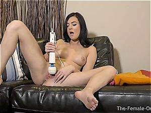 Coeds wand getting off to numerous orgasms