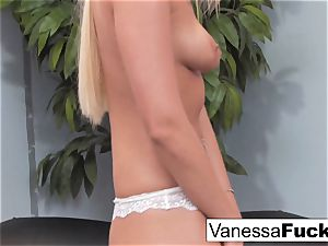 Pretty Vanessa gets rammed by a gigantic rod