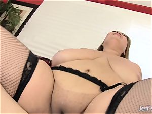 big-chested asian bbw boinks a dude and Makes Him spunk rock-hard