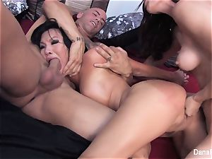 Asa Akira and Dana DeArmond squad up for a scorching 3some
