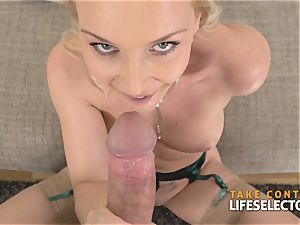Kathia Nobili - buxomy blondie satisfied With pink cigar