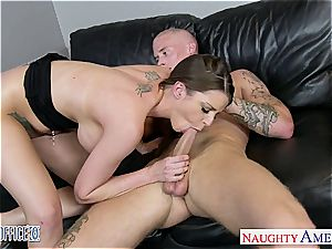 chocolate-colored haired princess Brooklyn pursue porked excellent by her guy