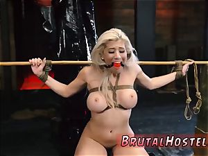 spandex bondage deep throat Big-breasted blondie sweetie Cristi Ann is on vacation boating and