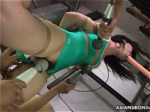 chinese bound up to be sexually tantalized by some pervs