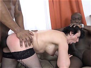 cuckold instructing Wathcing wifey have first bi-racial