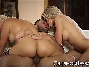 CrushGirls - Jessa and Savana share a enormous boner