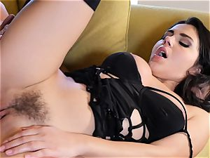 Valentina Nappi jammed in her raw pussyhole