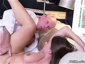 elderly mom penetrate youthful chick Ivy amazes with her humungous jugs and arse