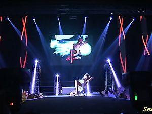 horny flexi stepmom nude on stage