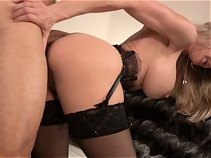 Brandi enjoy nails a stud in fashionable dress