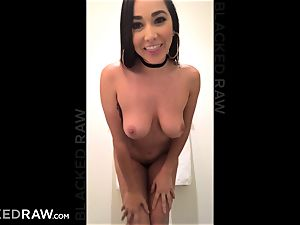 BLACKEDRAW Latina wife sploogs with 12 inch monster ebony hard-on