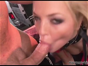 big-titted blond slut gets romped doggy style