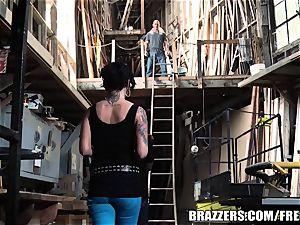 Eva backside boned in a warehouse