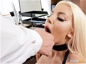 Nicolette Shea gets her concentration probed in this sizzling interview