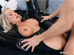 Brandi enjoy pummeled in her moist honeypot