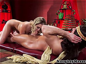 lovely flexible dame boned by the yoga instructor
