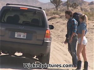 Samantha Saint hitchhikes her way to a big manstick