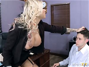 warm Headmistress Britney Shannon gets her hands on a wild college girl