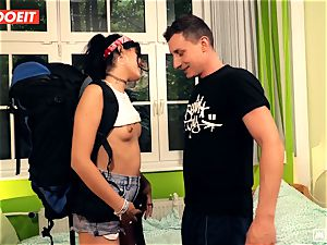 LETSDOEIT - insatiable Traveler penetrates fortunate German In Hostel