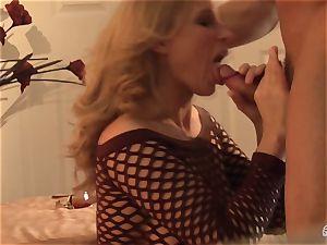Devon Lee bopping the rock-hard bishop of her playmate