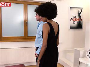 LETSDOEIT - dark-hued teen cums numerous Times At audition