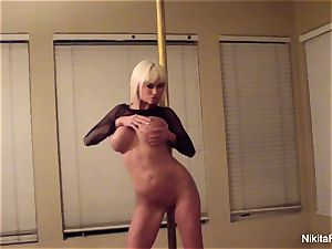 Nikita gives you a intimate softcore dance & a point of view blowage