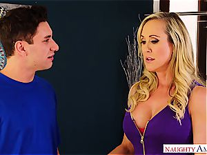 Brandi love fucks the delivery stud