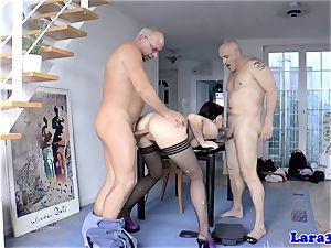 ass-fucked erotic euro mummy jizzed on arse