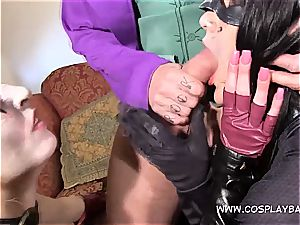3 way with Harley and Catwomen