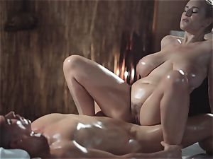 massage apartments wondrous milf with massive innate tits