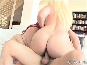 plump Eliza Allure drilled with the help of super hot ash-blonde mummy Alura Jenson