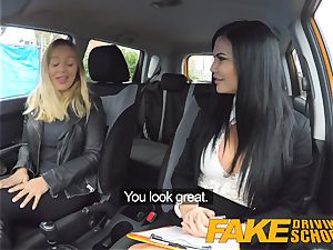 faux Driving college all girl fuckfest with hot Australian