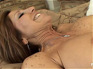 Chilean cougar preying on nubile slit