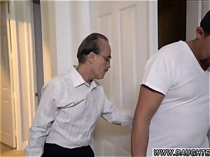 youthfull chick dad Lexy Bandera get s her pipes cleaned by a yam-sized man meat